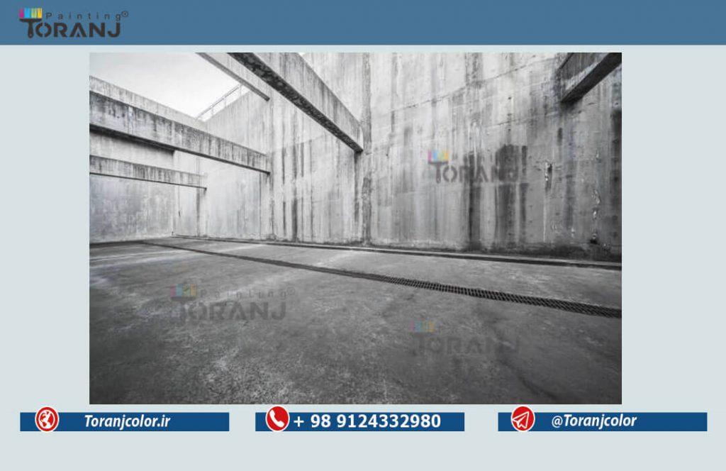 شماتیکی از نمای ساختمان حاوی پوشش رنگ صنعتی نما