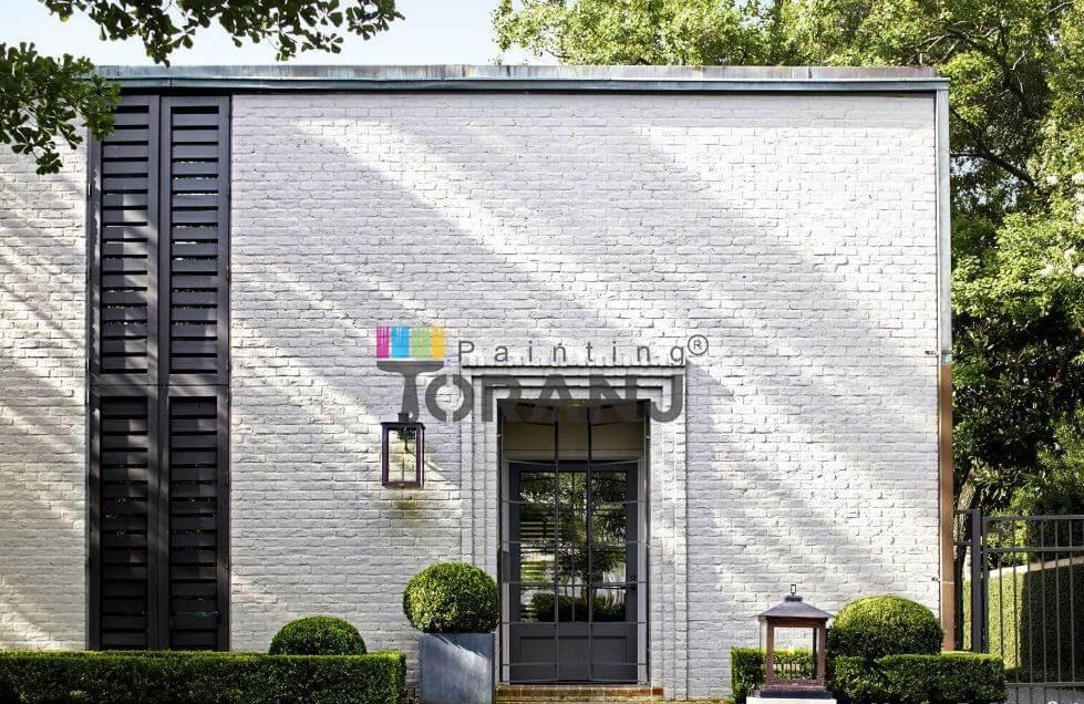شماتیکی از ساختمان ویلایی حاوی پوشش رنگ پلاستیک نما